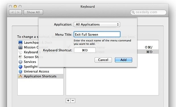 Adding access to applications with Simple Mode