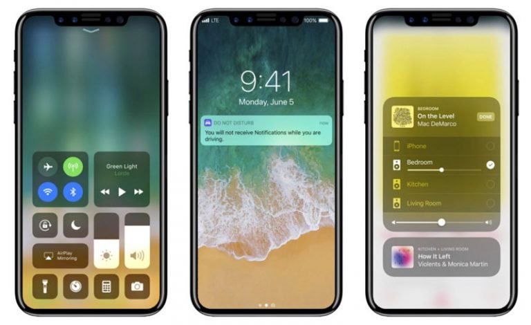An iPhone 8 with a built-in laser?