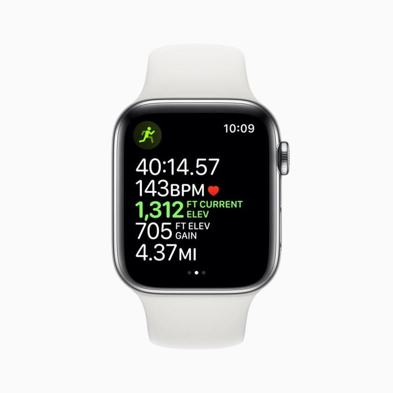 Apple accidentally filters an image from the Apple Watch Series 4