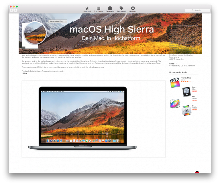 Apple Launches High Sierra MacOS Golden Master for Developers and Public Beta Testers