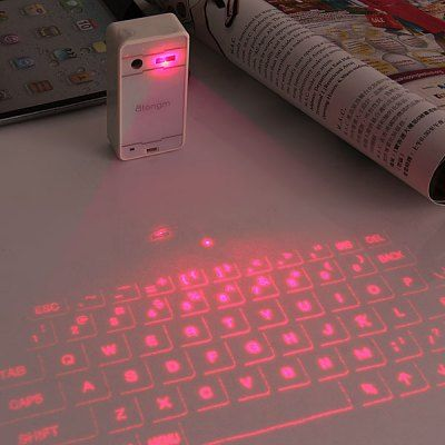 Bluetooth keyboard with laser projection for iPhone and iPad