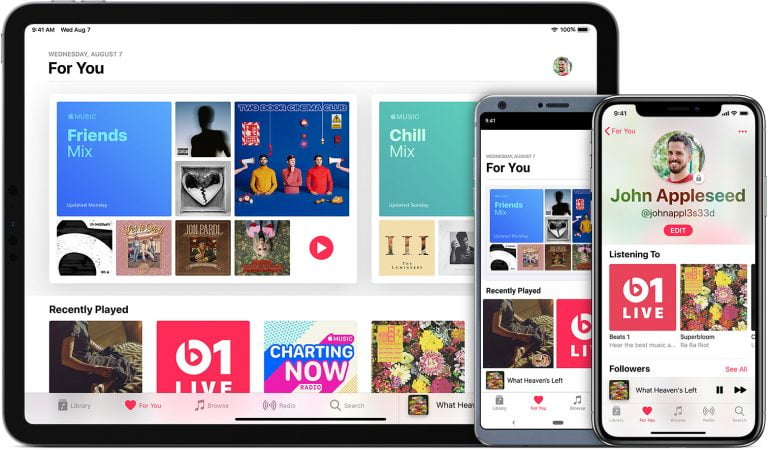 Collection of musical apps for iPhone