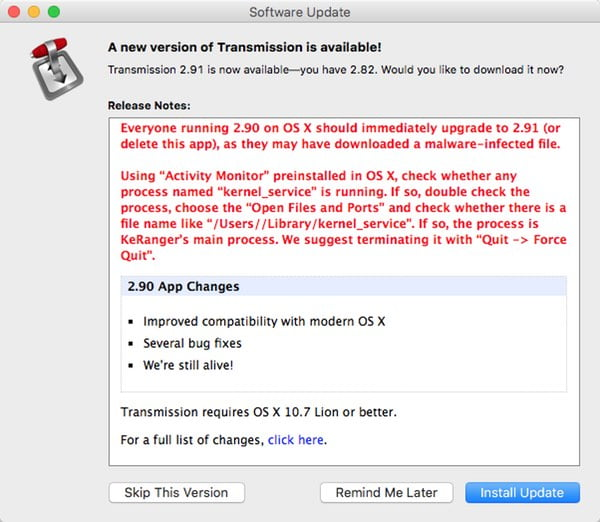 Detect and remove KeRanger, the first ransomware for Mac