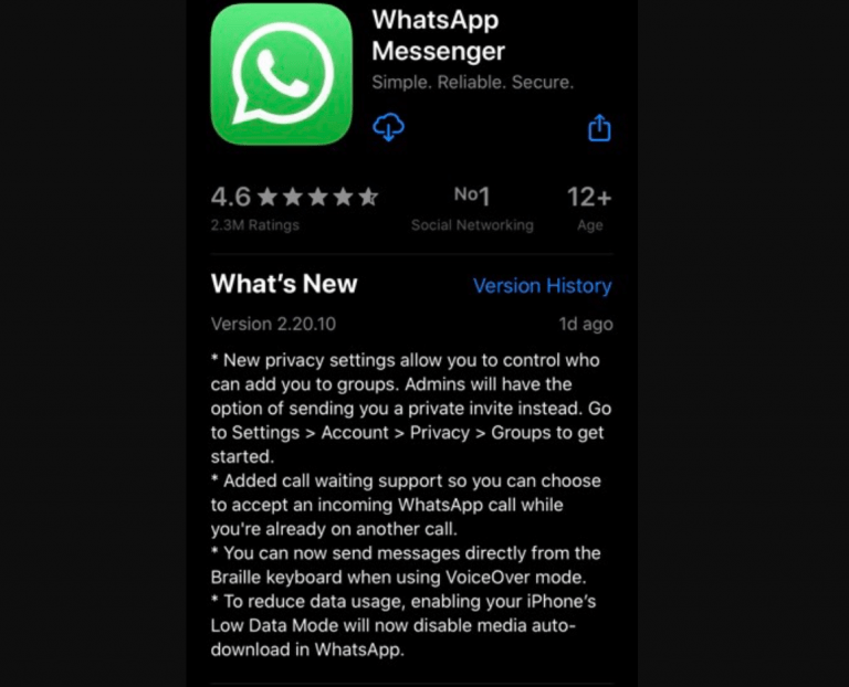 Find out what's new in WhatsApp's upcoming iOS app