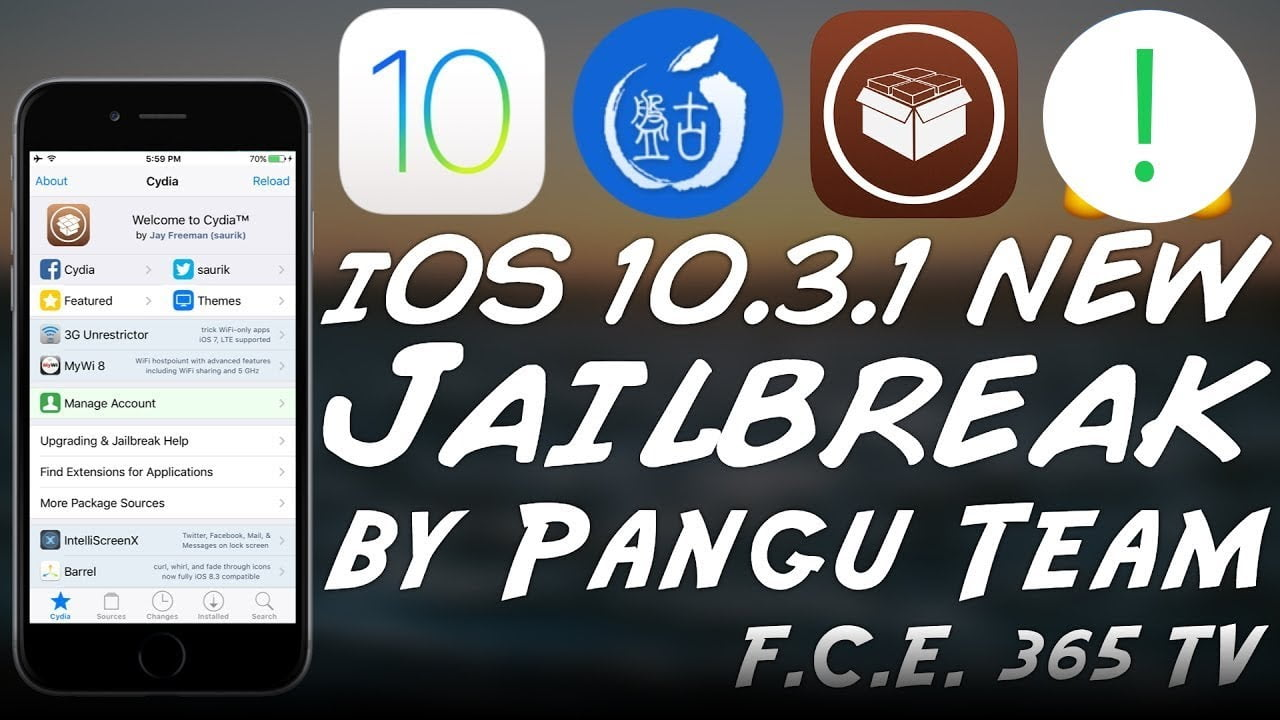 First images from Pangu's iOS 10.3 and iOS 10.3.1 Jailbreak