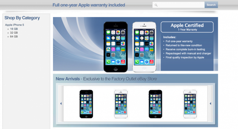For the first time you can buy a refurbished iPhone from the Apple Online Store