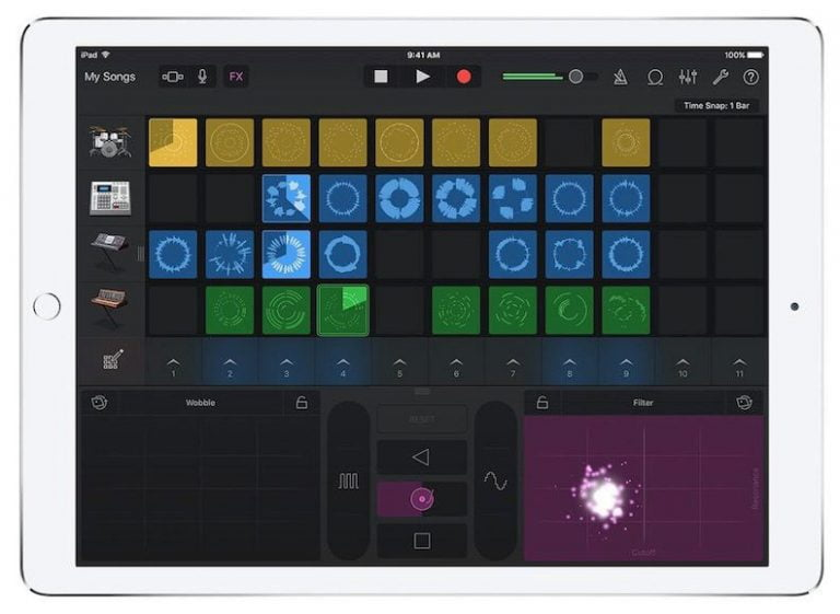 GarageBand now includes facial controls for iPhone X