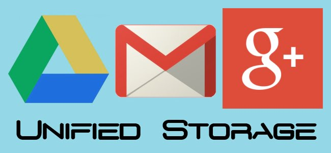 Google unifies the space between Gmail, Drive and Google+ with 15 GB