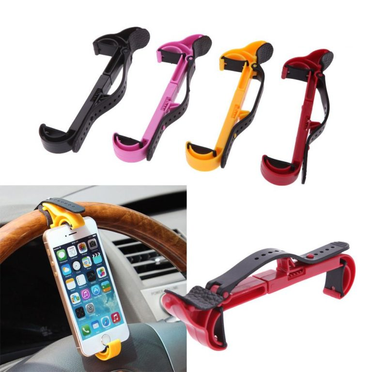 Holder to place the iPhone behind the steering wheel in the car