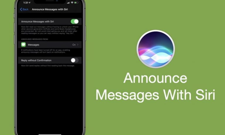 How 'Announce messages with Siri' works in iOS 13.2