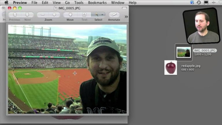 How to crop an image with Preview on Mac