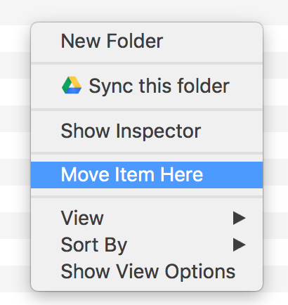 How to do Cut and Paste in the Finder