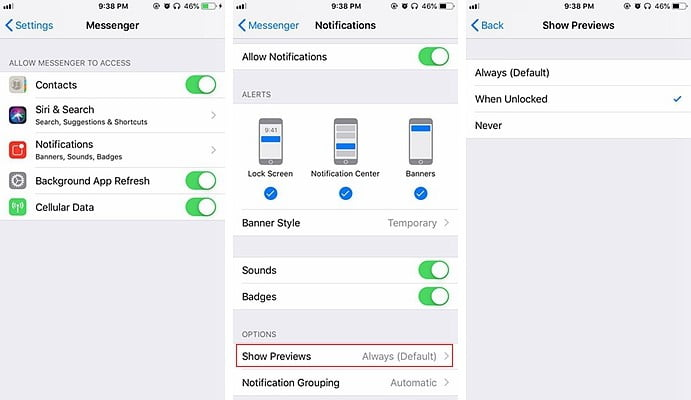How to hide iPhone notifications