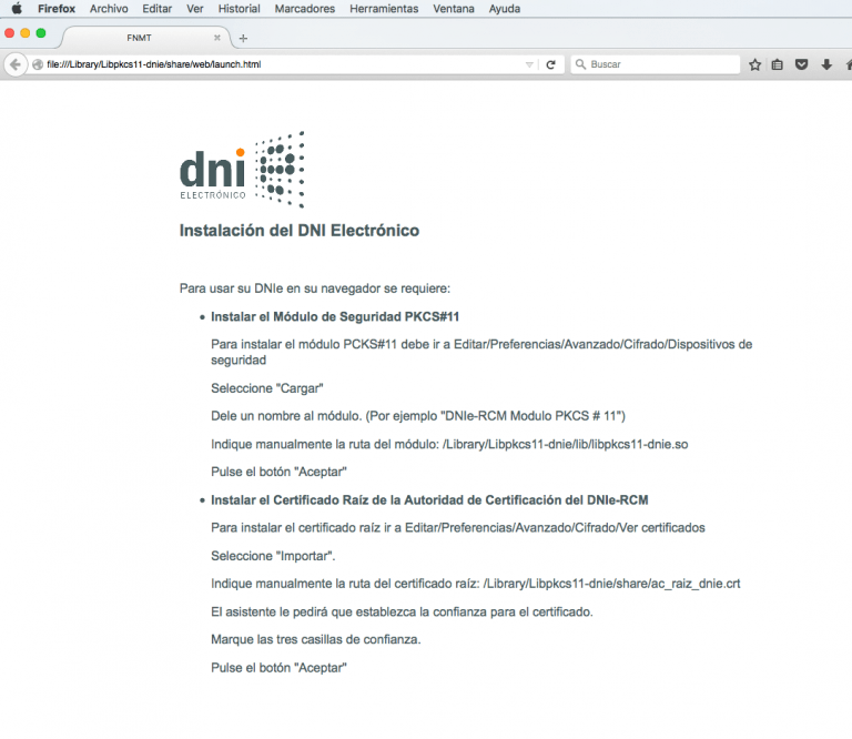 How to install the DNIe in OS X
