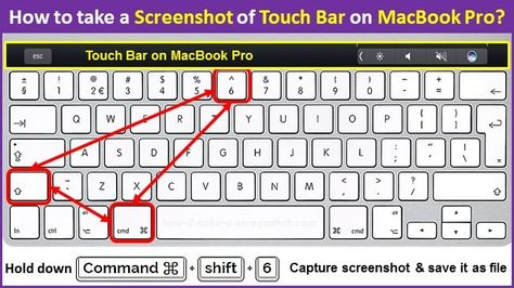 How to take screenshots of the MacBook Pro Touch Bar