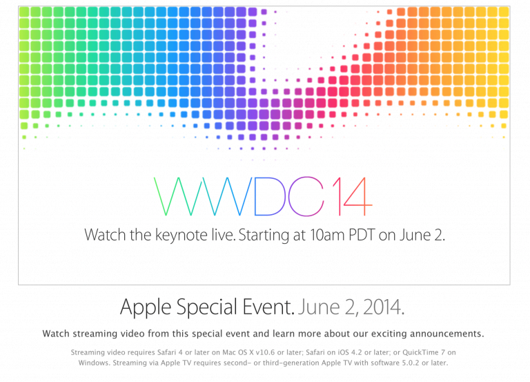 Images of the WWDC 2014 presentation posters