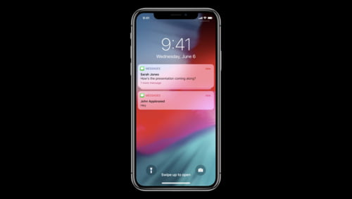 iOS 10 concept with a new notification system
