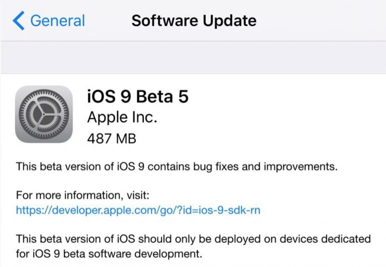 iOS 5 Beta 5 now available for developers