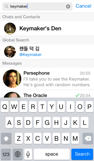 iOS 8 interactive notifications arrive at Telegram