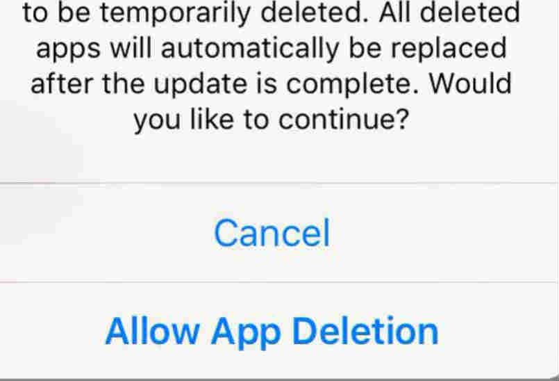 iOS 9 can automatically delete apps to update