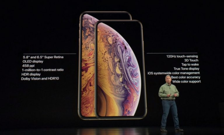 iPhone XS has a smaller battery capacity than iPhone X