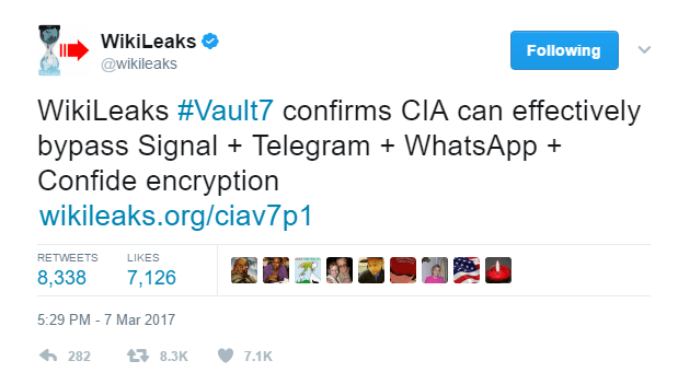 Is the CIA able to read our WhatsApp?