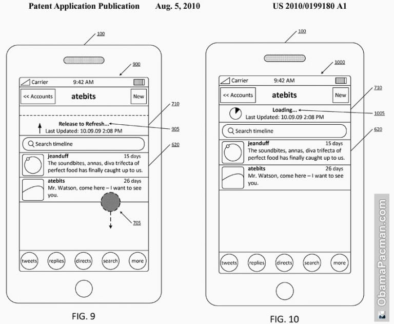 """It's official, the """"pull-to-refresh"""" is now patented by Twitter"""