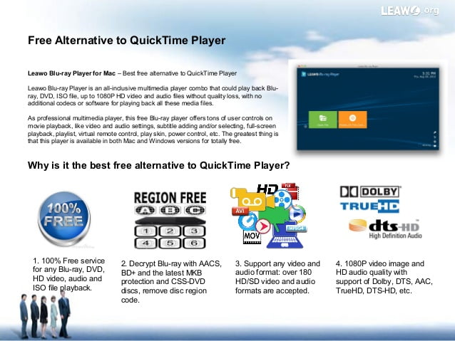Leawo Blu-ray Player, the best video player for Mac