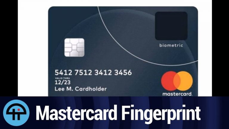 MasterCard announces that its credit cards will be equipped with a fingerprint sensor