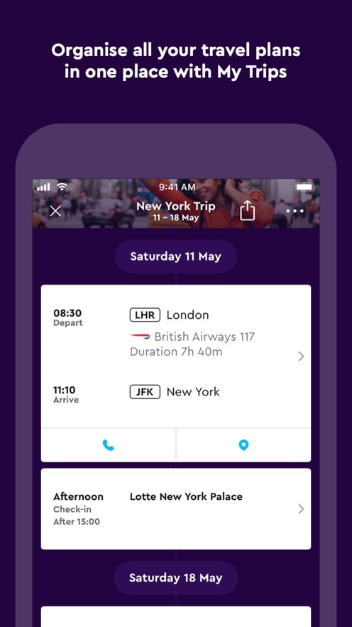 Momondo, an app to organize trips from iPhone and iPad