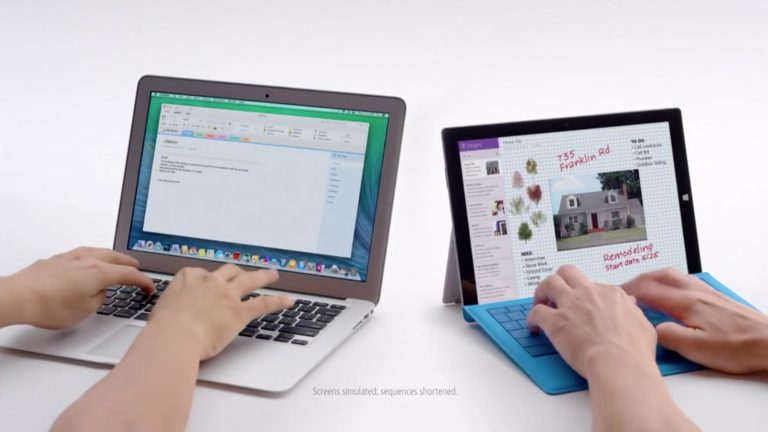 More ads from Microsoft attacking the iPad