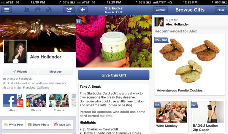 New Facebook update for iOS