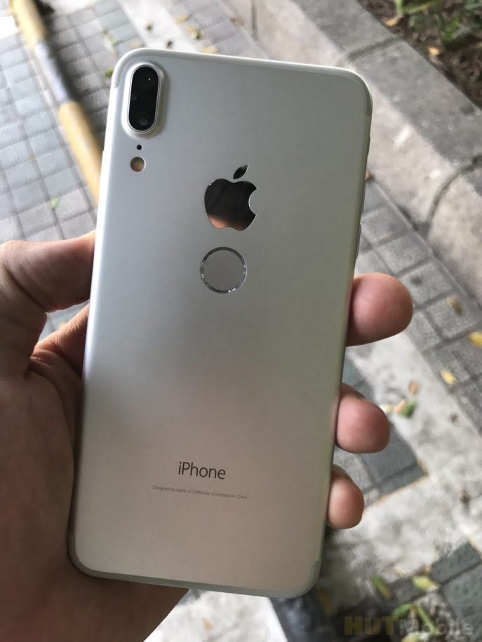 New images of a possible iPhone 7s with Touch ID on the back are shown