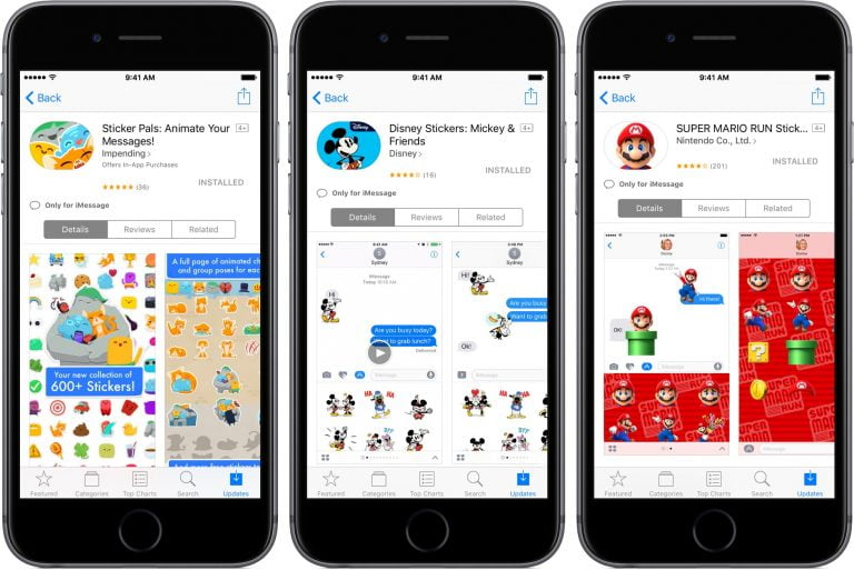 New iOS 10 iMessages sticker packs appear in the App Store