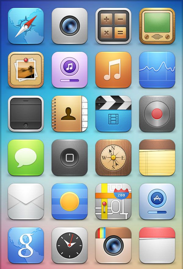 New iOS 7 icons and look on the iPad