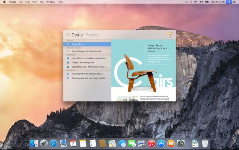 OS X Yosemite, features and news