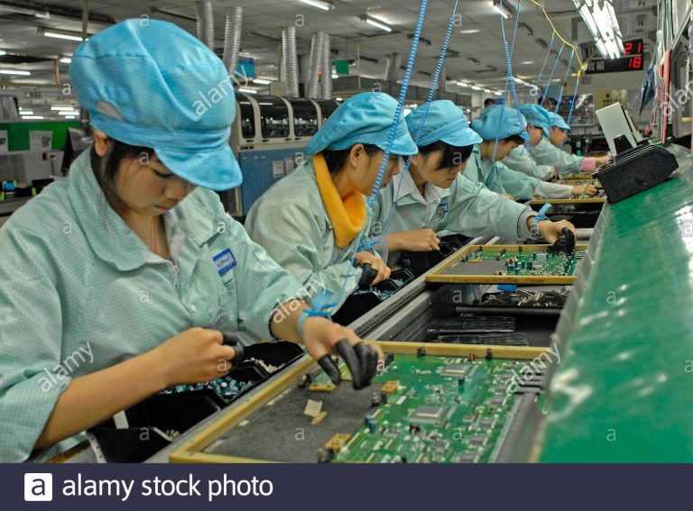 Piles of iPhones appear in a Chinese Pegatron factory