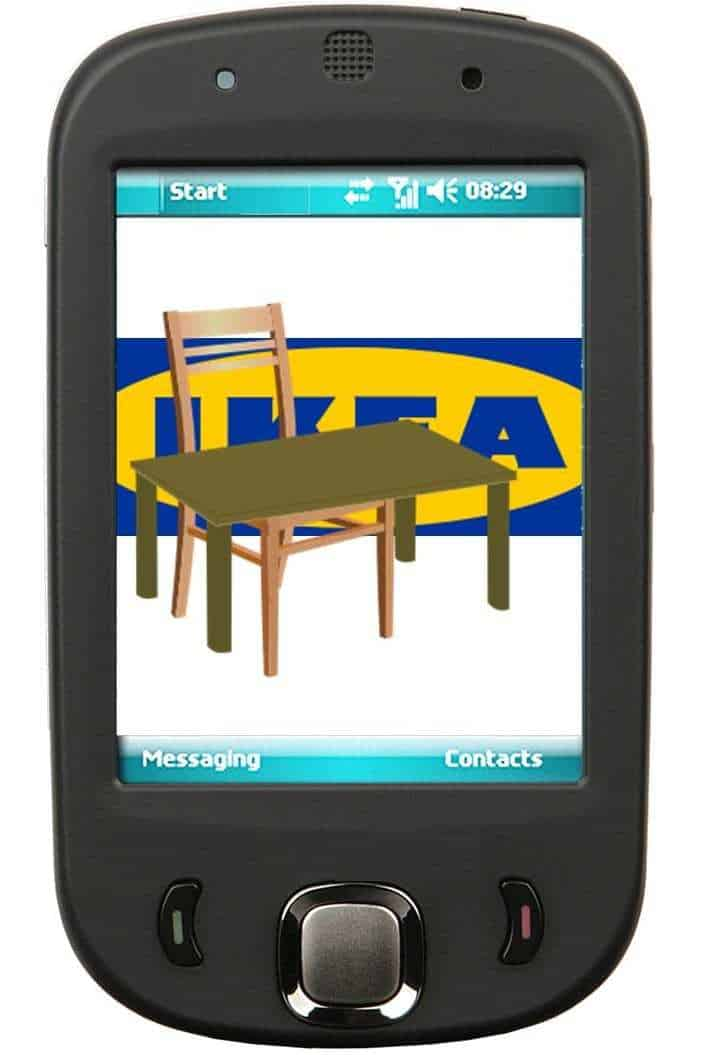 Place the IKEA app, now available on the App Store