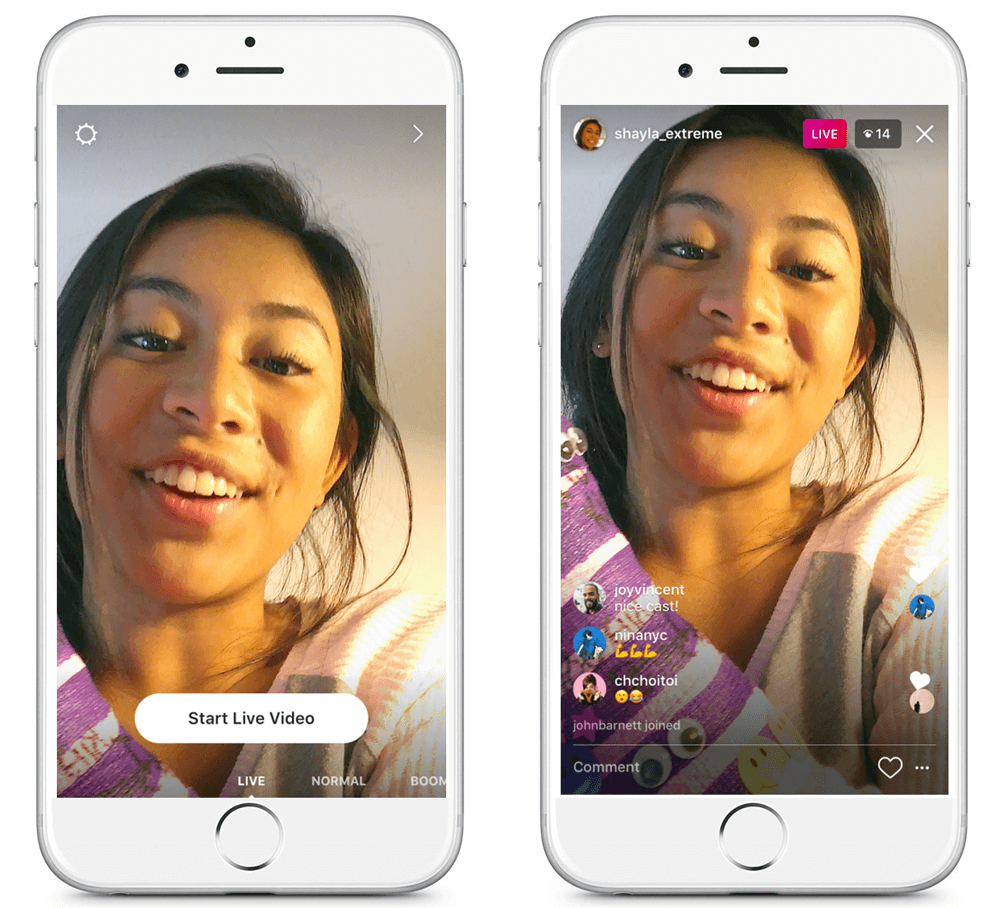 Share ephemeral images and videos via Instagram