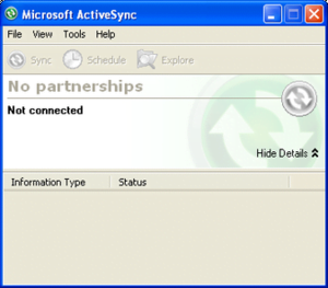 synchronization via LAN and without support for Windows XP