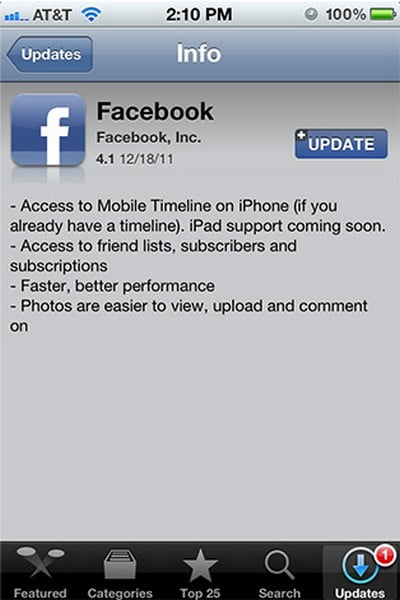 The Facebook app for iPad, coming soon?