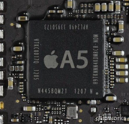 The iPad 2 still sold by Apple and the new Apple TV have modified A5 processors