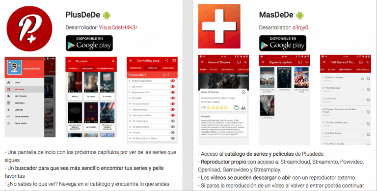 The movie watching app, Plusdede, returns to the App Store