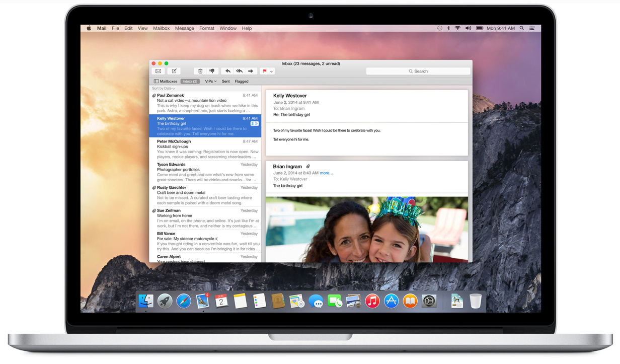 The new look of OS X Yosemite in video