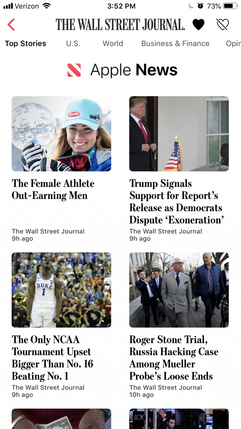 The Wall Street Journal will be part of Apple's news service