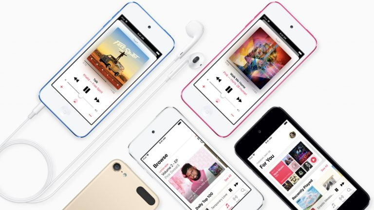 This is the announcement of the new iPod range