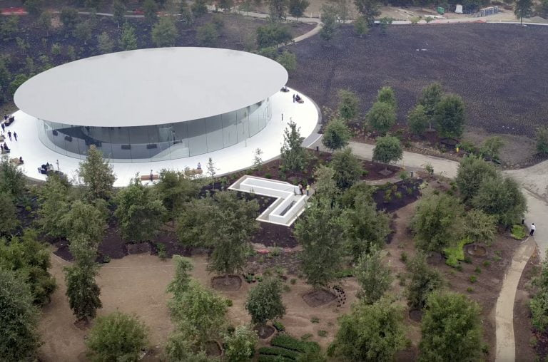 This is what the inside of the Steve Jobs Theater looks like