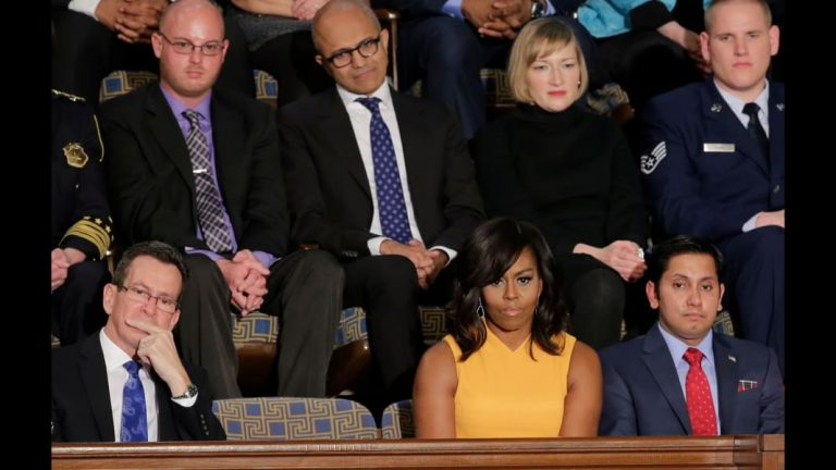 Tim Cook will sit next to Michelle Obama at the State of the Union Address on Thursday