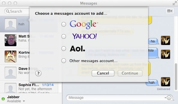 Using Facebook Chat on the Mac