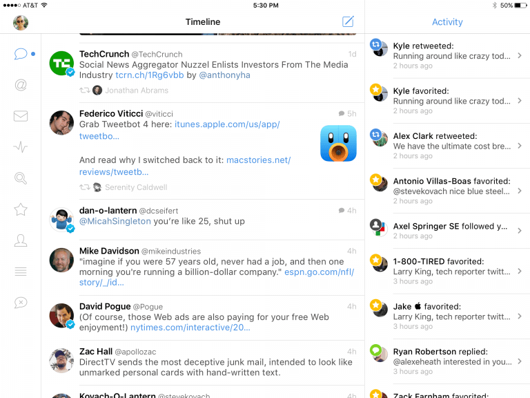 Using Tweetbot to silence our timeline